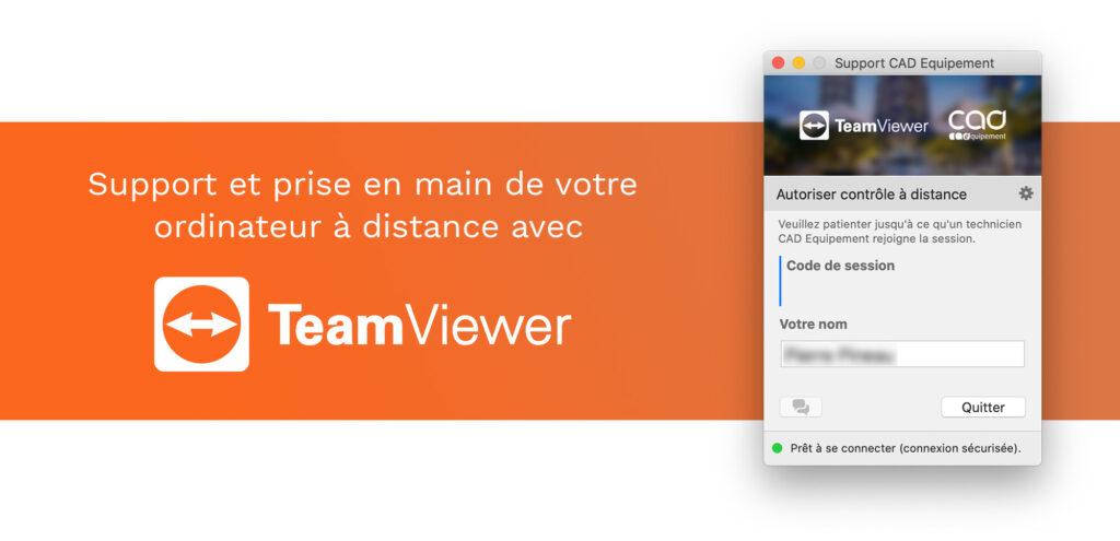 Support et prise en main de votre ordinateur à distance avec TeamViewer QuickSupport.