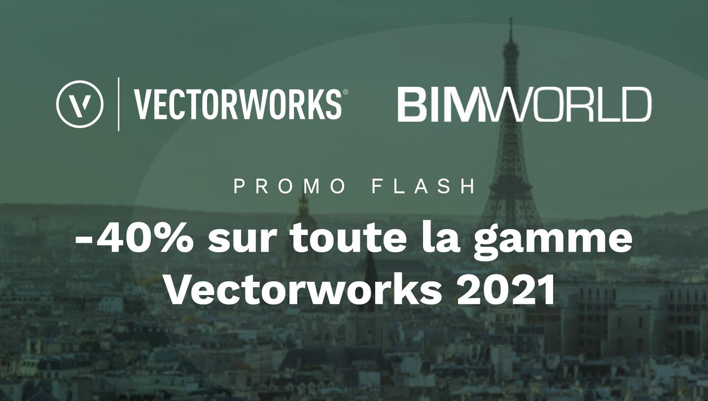 Vectorworks & BIM World : -40% sur toute la gamme !