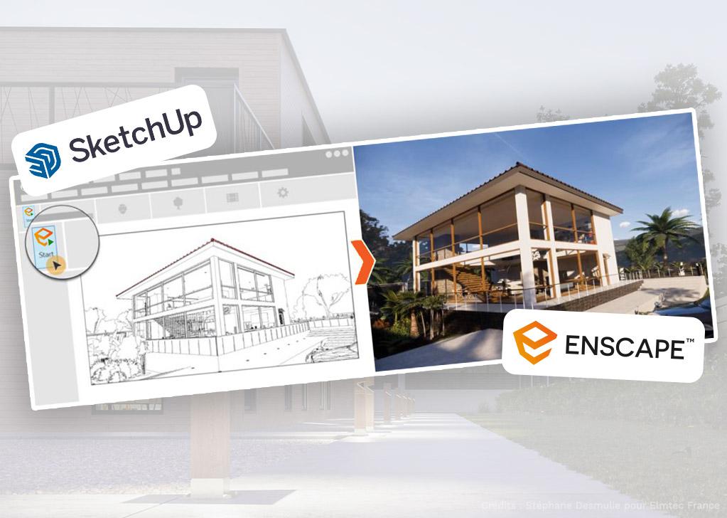 Formation rendu d'image Enscape avec SketchUp