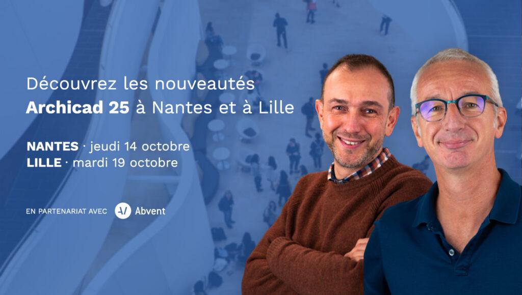 Découvrez les nouveautés Archicad 25 à Nantes et Lille